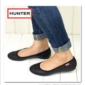 HUNTER tour Ballet rubber flats  shoes UK 7 US 9